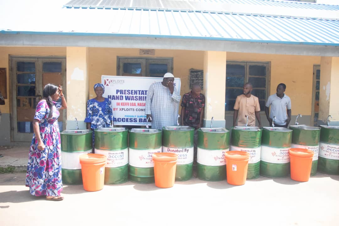 Xploits Consulting distributes hand washing devices to schools in Kogi, Nasarawa states